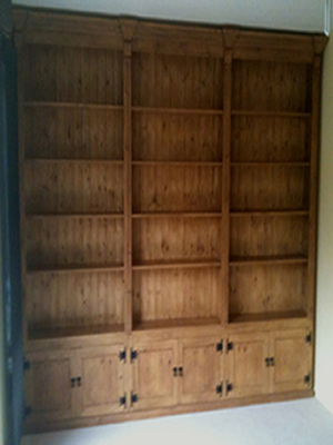 made to order End Wall Bookcase With Doors