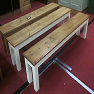 made to any size wooden bench