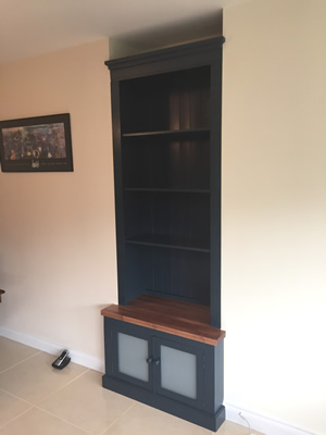 Painted Blue Fitted Alcove