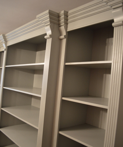 Painted Breakfront Bookcase