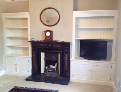 Pair of Alcove Units Painted French White