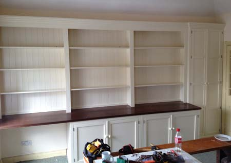 Made measure wall unit, Painted and fitted Alcove