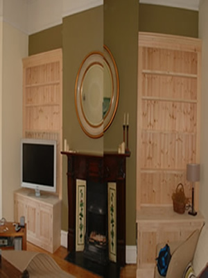 made to order Double Fitted All Shelves Alcove Units