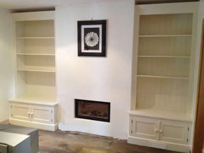 Double Fitted Alcove Units with Press, Painted
