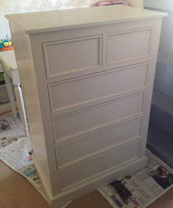 Painted 2 over 3 Chest of Drawers