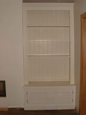 Painted & Fitted Alcove Unit