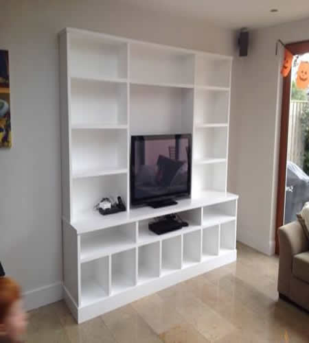 Made to measure Large Modern Look TV / Wall unit