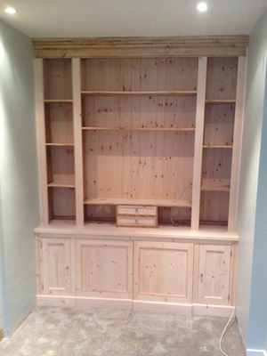 Made to Measure Fitted End Wall Tv Unit - Unpainted