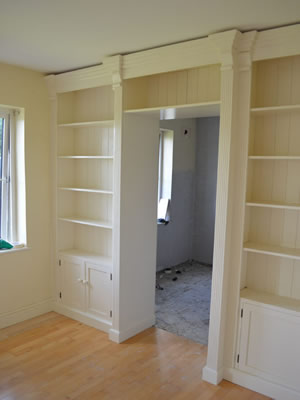 Walk Through Fitted Bookcase