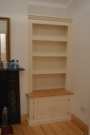 Fitted Alcove unit painted French White