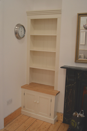 Painted Alcove with Waxed Counter