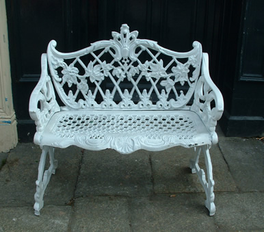 Old style cast iron garden bench.